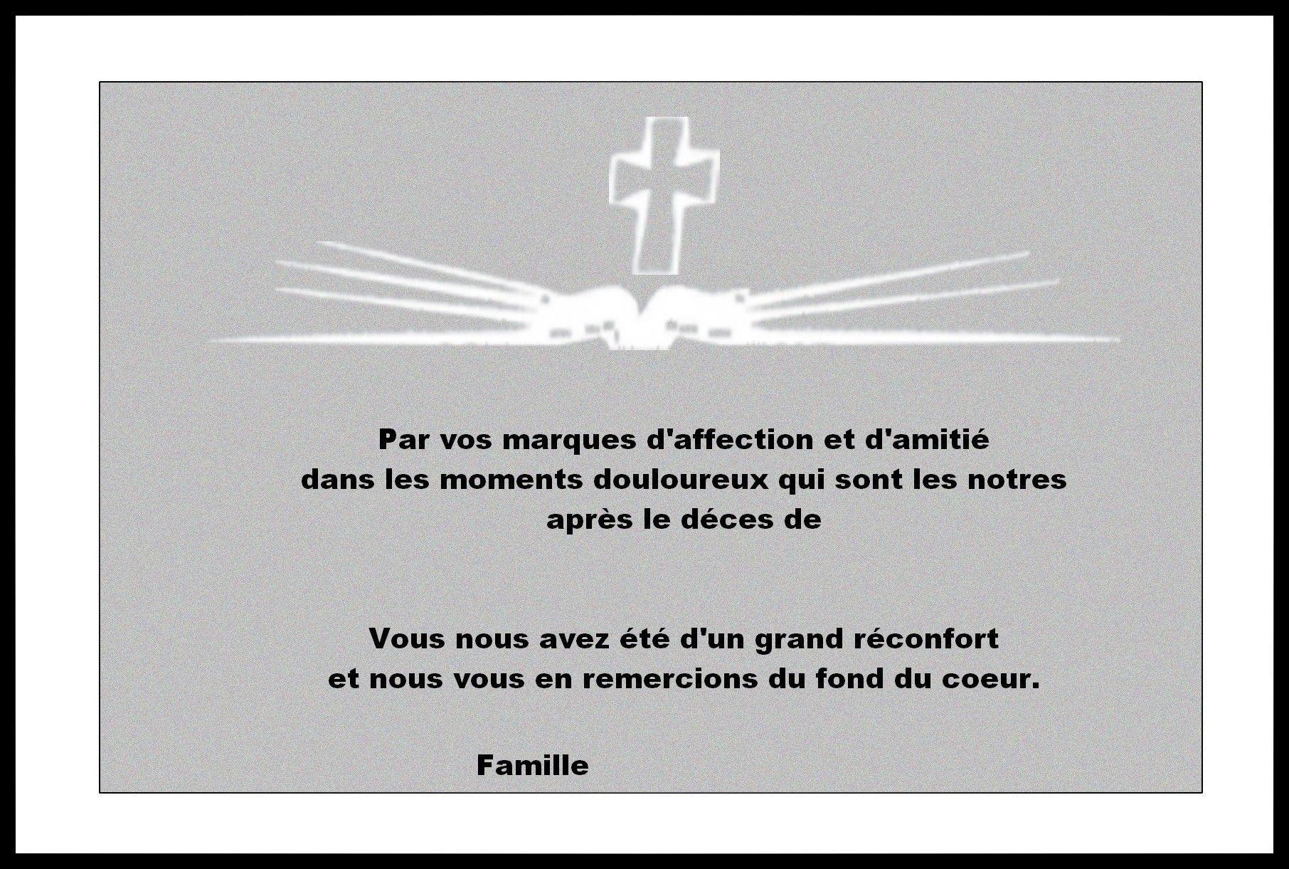 Préférence Cartes condoleances remerciement WW15