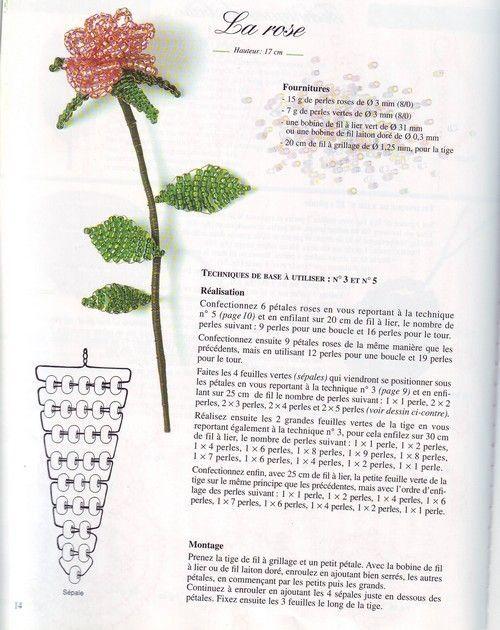 perles de rocails explications fleurs page 2. Black Bedroom Furniture Sets. Home Design Ideas